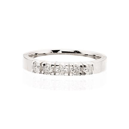 Scrouples - Grace diamant ring 14 kt. guld 5x0,04 w/si diamant - Modelnr.: 7756,5