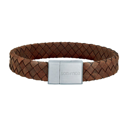 Son of noa - SON bracelet brown calf leather 21cm 12mm - Model: 897 014-BROWN21