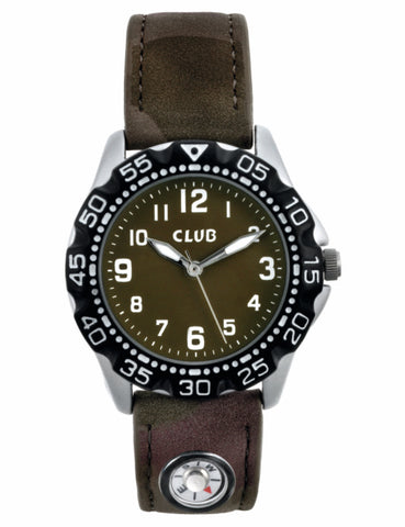 CLUB - DRENGE UR - MED ARMY REM - Model: A56533S12A