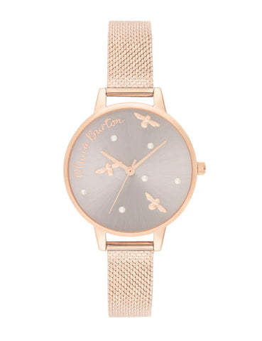 OLIVIA BURTON - PEARLY QUEEN PEARL DETAIL ROSE GOLD - MODEL: OB16PQ04