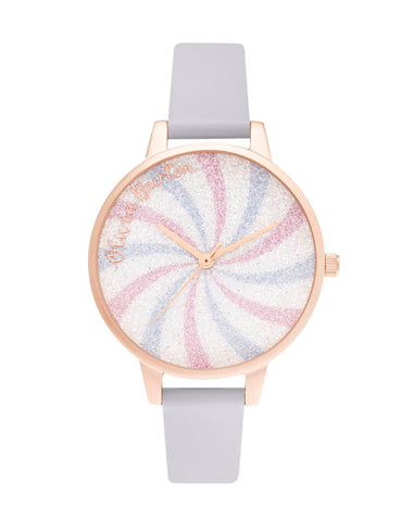 OLIVIA BURTON - Candy-Shop-Glitter-Lolly-Demi-Violet-Rose-Gold - MODEL: OB16CD03