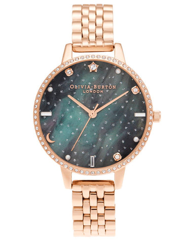 OLIVIA BURTON - Celestial Northern Lights Demi Dial Rose Gold  - MODEL: OB16GD66