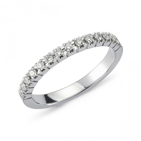 Nuran - 14 kt. Hvidguld alliancering m. 0,21ct w/si brillant - Model: A2500 021 HG