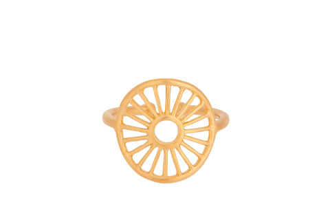Pernille Corydon - Sunlight - Forgyldt ring - Model: R-375-GP