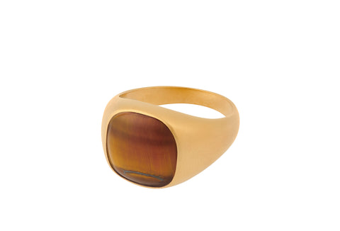 Pernille Corydon - TIGER EYE - Forgyldt ring - Model: R-821-GP