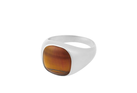 Pernille Corydon - TIGER EYE - Sølv ring - Model: R-821-S