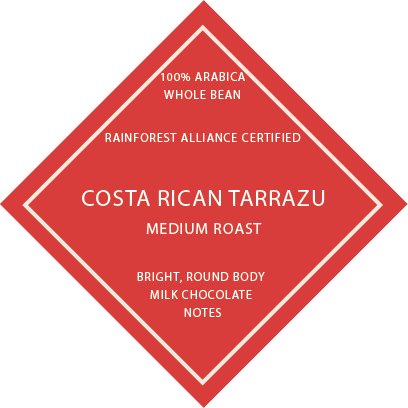Costa Rican Tarrazu RFA - Medium Roast
