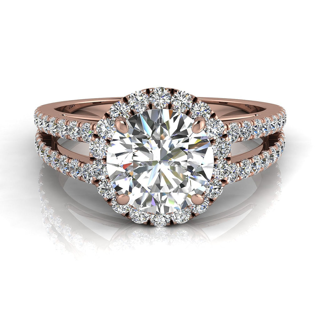 en engagement diamond with solitaire ring bagues collections rings diamant genova bague rose or pink diamants diamondsandcarats com gold round les carat