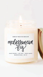 Mediterranean Fig Candle -Soy Candle