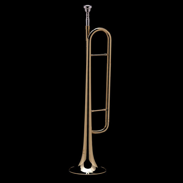An alternative image of a Bb Bugle/Natural Trumpet from Wessex Tubas