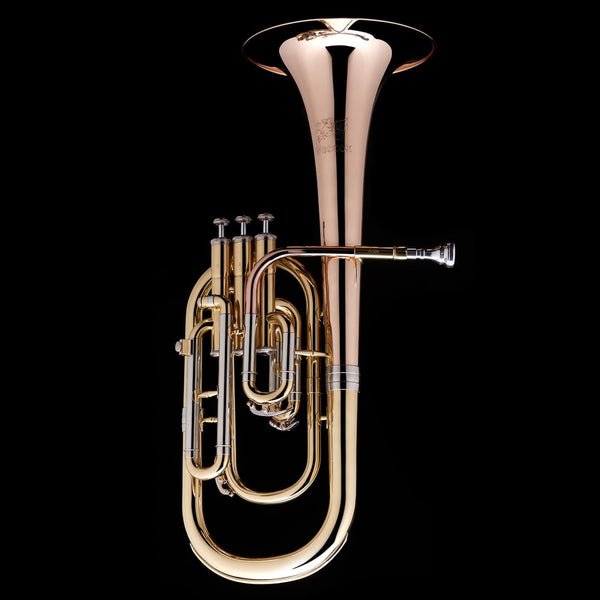 An image of a Eb Tenor/Alto Horn from Wessex Tubas in silver and gold