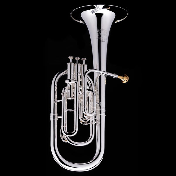 An image of a Eb Tenor/Alto Horn from Wessex Tubas in silver