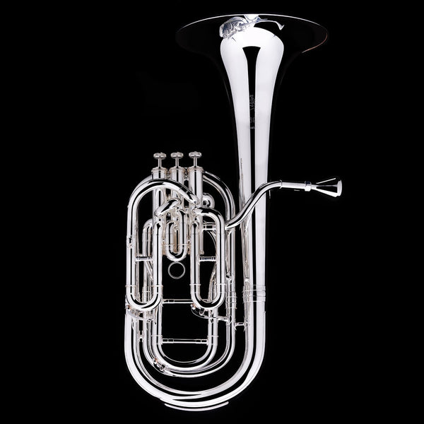 An image of a Bb Compensated Baritone (3-valve) from Wessex Tubas in silver-plate