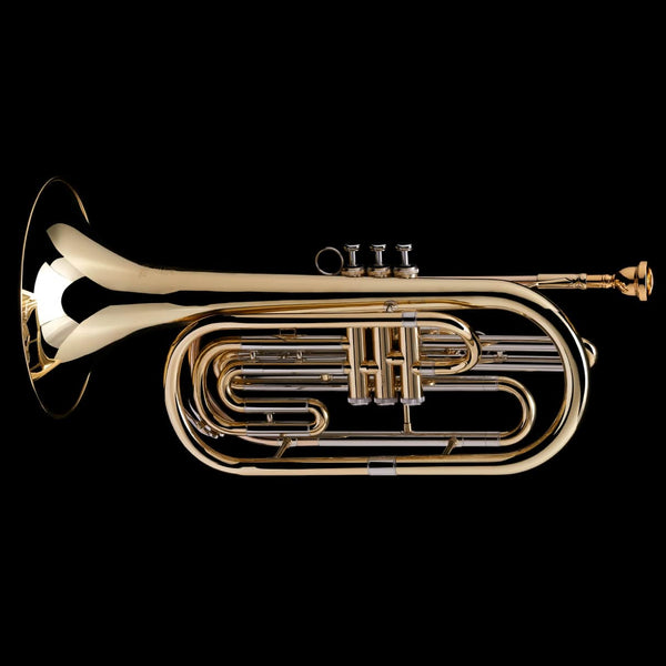 An image of a Bb Flugabone (Marching Trombone) from Wessex Tubas, facing left