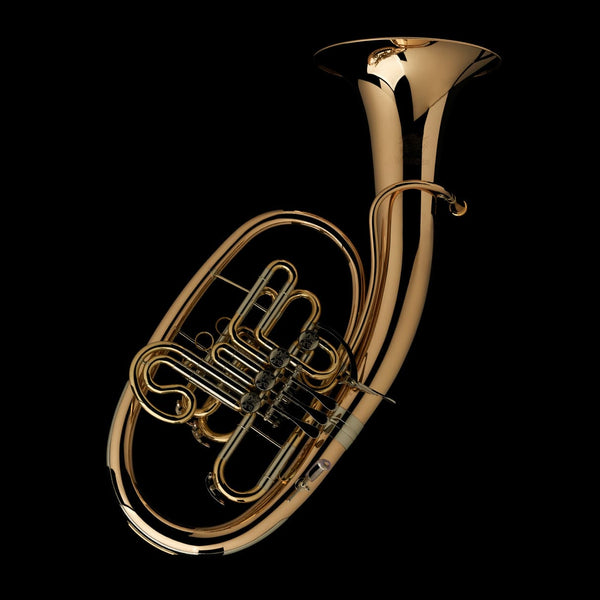 An image of a Bb/F Wagner Tuba from Wessex Tubas