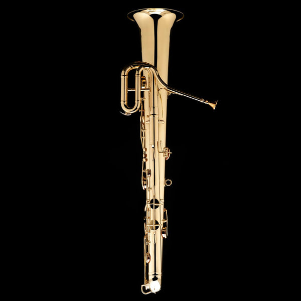 An image of the back of a Bb Ophicleide from Wessex Tubas