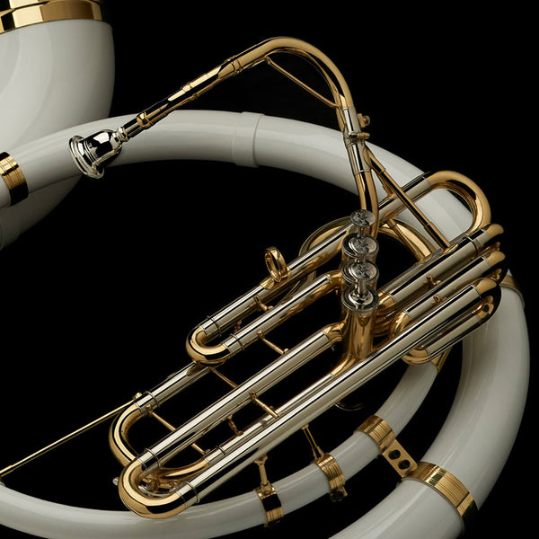 Special order: BBb Sousaphone with white ABS bell and body – SP30