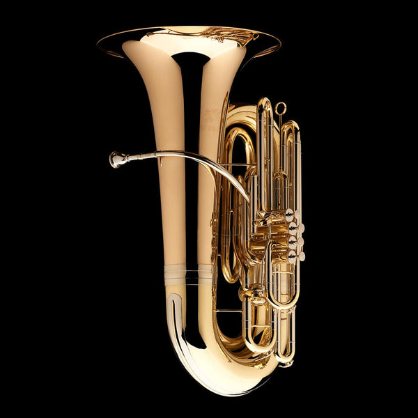 An alternative image of a BBb 4/4 Tuba with 5-valves 'Viverna' from Wessex Tubas