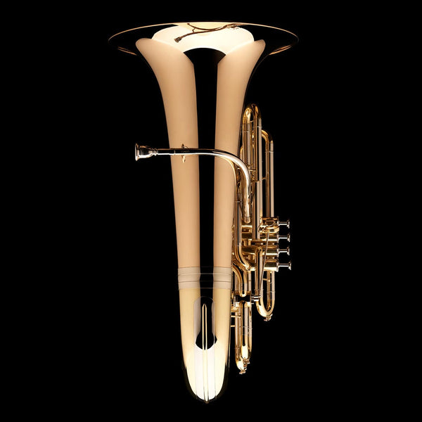 An image of the front of a BBb 4/4 Tuba with 5-valves 'Viverna' from Wessex Tubas