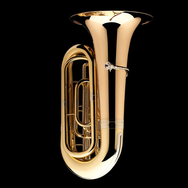 A side image of a BBb 4/4 Tuba with 5-valves 'Viverna' from Wessex Tubas