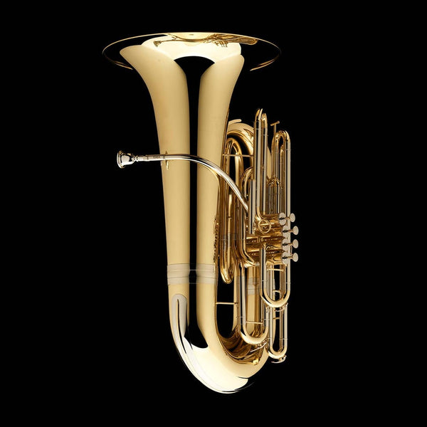 An image showing the front of a BBb 4/4 Tuba with 4-valves 'Dragon' from Wessex Tubas