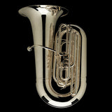 "An image of a BBb 6/4 Front-Piston Tuba ""Grand"" in silver-plate from Wessex Tubas"