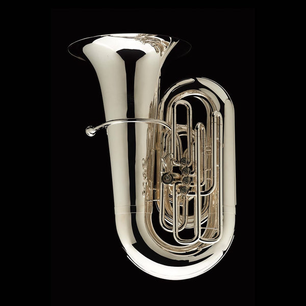 An image of a BBb 6/4 Tuba with 5-valves 'Prokofiev' in silver plate from Wessex Tubas