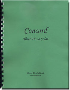 Concord - Three Intermediate Solos for Piano