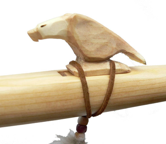 Ponderosa Pine Native American Flute in Key of A - Eagle