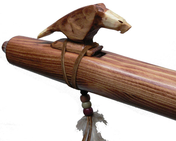 Ponderosa Pine Native American Flute in Key of A - Eagle Walnut Finish Blemish