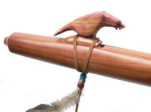 Jonah Thompson Native American Cedar Eagle Flute