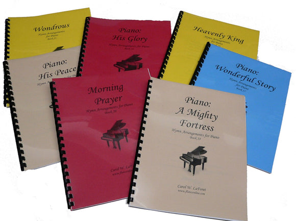 Piano Hymn Arrangement Books 15 - 21 as a Set # 3