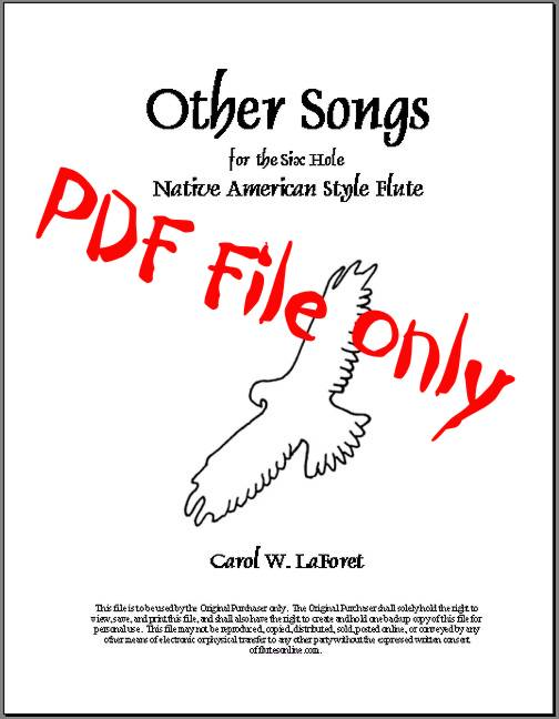 Native American Flute Song Book PDF File by flutesonline.com