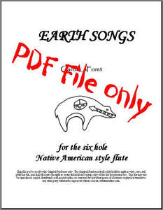Earth Songs for the 6 hole Native American Flute PDF File