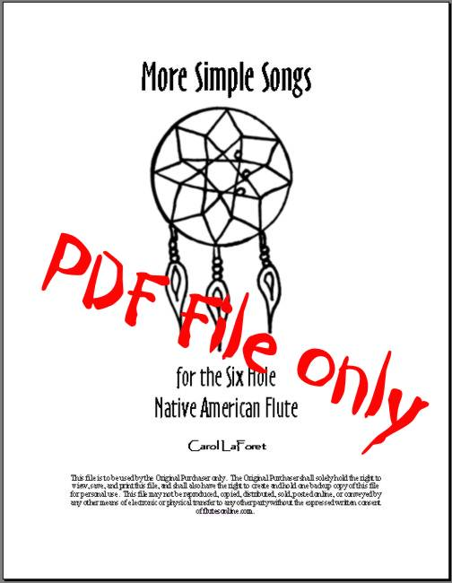 Native American Flute Song Book 6 Hole PDF File