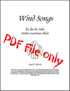 Wind Songs for the 6 hole Native American Flute PDF File