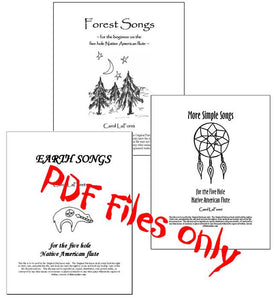 Song Books for 5 Hole Native American Flute PDF File