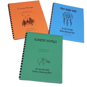 Native American Flute Song Book Set of 3