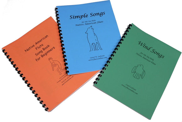 Native American Flute Song Book Set of 3 - for 6 Hole