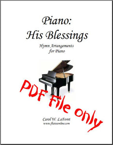 Piano: His Blessings Hymn Arrangements PDF File