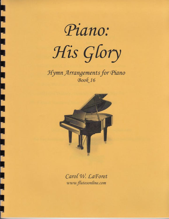 Piano: His Glory Hymn Arrangements