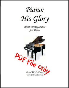 Piano: His Glory Hymn Arrangements PDF File