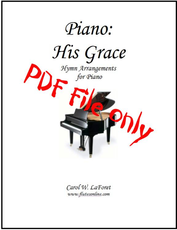 Piano: His Grace  Hymn Arrangements PDF File