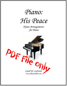 Piano: His Peace, Hymn Arrangements PDF File