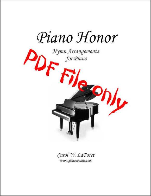Piano Honor, Hymn Arrangements PDF File