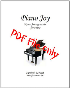 Piano Joy Hymn Arrangements PDF File