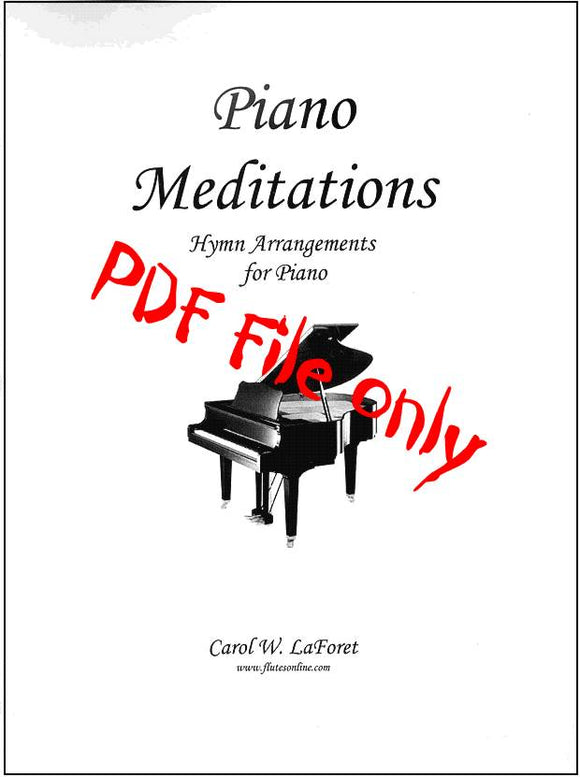 Piano Meditations Hymn Arrangements PDF File