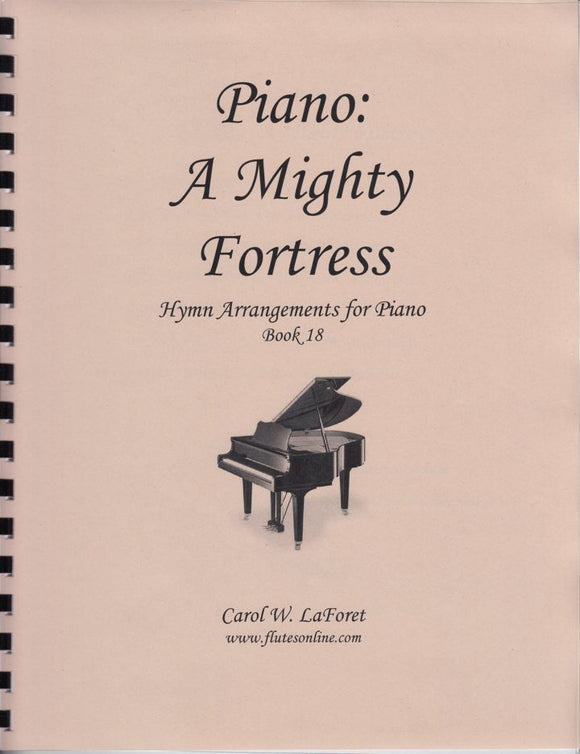 piano hymn book, Mighty Fortress