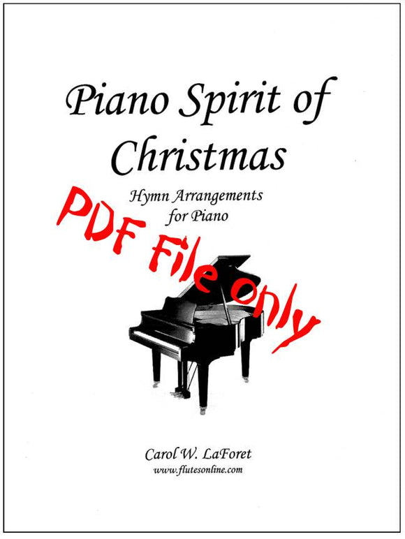 Piano Spirit of Christmas  Carol Arrangements PDF File