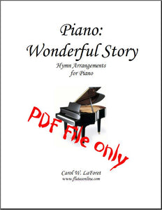 Piano Wonderful Story Hymn Arrangements PDF File